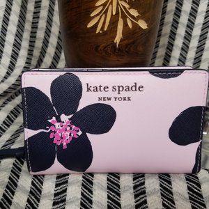 Kate Spade Medium Bifold Wallet Grand Floral